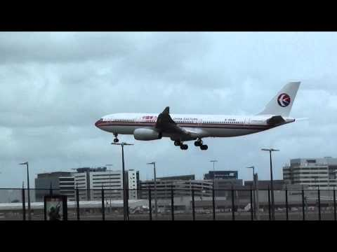 Qantas B767/China Eastern A330-200/Jetstar A330/Scoot B777 Airlines Landing 16R Sydney Airport (HD)