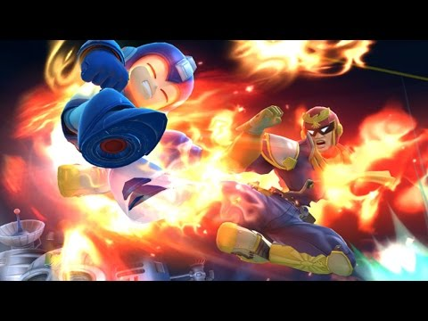 Super Smash Bros 4 Characters: Captain Falcon (WII U / 3DS Gameplay Screenshots) 【All HD】