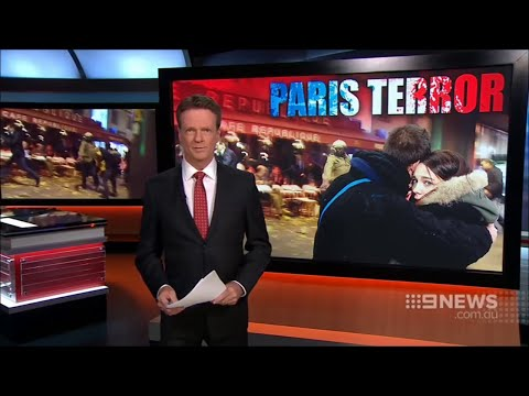 9 News Melbourne: Paris Terror (14.11.2015)