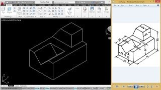 MECHANICAL MODELING USING COORDINATE METHOD | AUTOCAD MECHANICAL MODELLING TUTORIAL