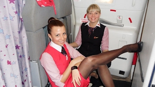 Hot Air Stewardess in Tights, Pantyhose & Nylons