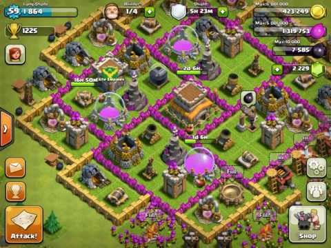 Clash of Clans Defense with Modded buildings.csv File