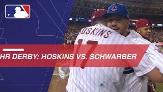 Schwarber walks off against Hoskins in HR Derby semis