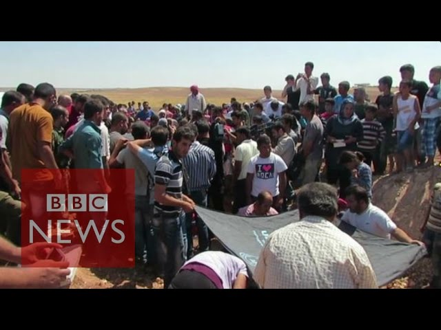 Migrant crisis: Grief at drowned Syria boy's burial - BBC News