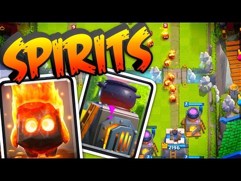 Clash Royale   FIRE SPIRITS & FURNACE New Card Reviews & Gameplay!