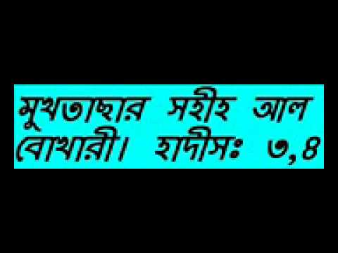Bangla Waz New Mukhtasar Sahih Al Bukhari Hadis Part 02