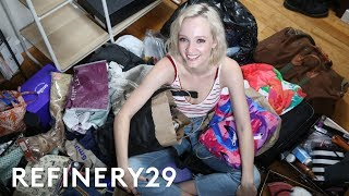 How I Decluttered My Room That Has No Closet | Hot Mess | Refinery29