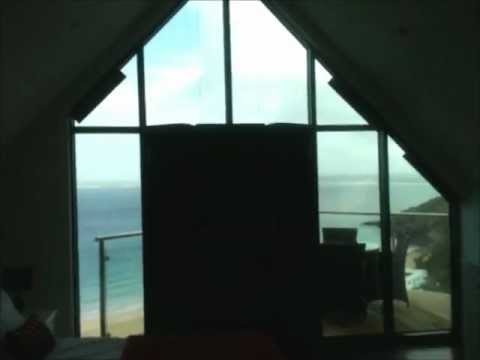 POWERED GABLE END PLEATED BLINDS IN BLACKOUT DUETTE YouTube
