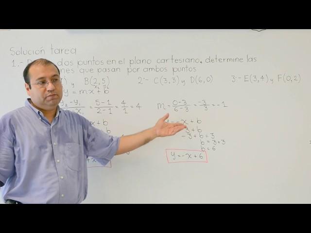 Determinar la ecuación de la línea recta dados dos puntos