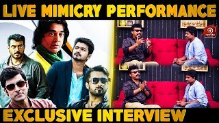 Sun Tv Anchor Aadhavan Singing Mimicry Live | Exclusive Interview | Nettv4u