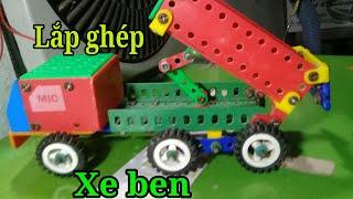 Hướng dẫn lắp ghép mô hình xe ben