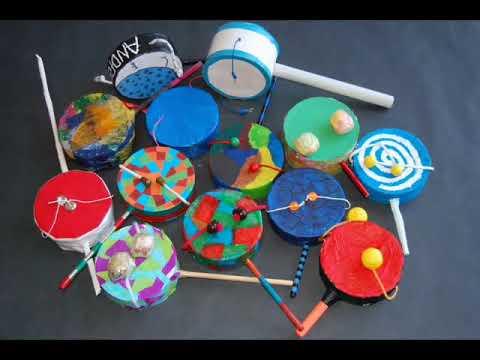 Instrumentos musicales de material reciclado
