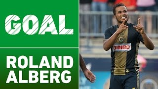 GOAL: Roland Alberg nails the top corner from distance