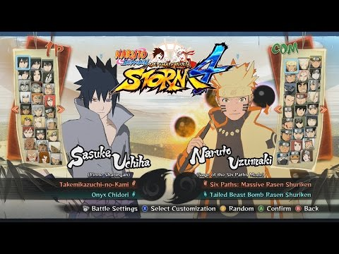 Naruto Shippuden Ultimate Ninja Storm 4 All Characters. Costumes. Forms. Jutsu. Stages