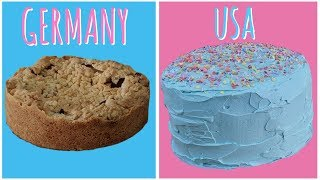 WOW!! CAKES SO DIFFERENT in Germany & USA 🎂🍰