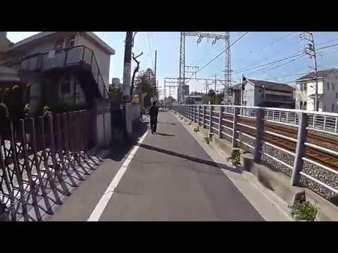 HX-A100を装着して自転車に乗り撮影