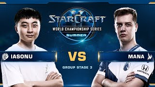 MaNa vs iAsonu PvZ - Group Stage 3 - WCS Summer 2019