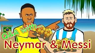 Neymar & Messi Q&A! (PARODY Brazil vs Argentina 3-0 World Cup 2018 Qualifier)