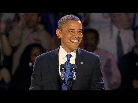 President Obama's Election Night Victory Speech - November 6, 2012 in Chicago, Illinois
