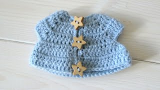 How to crochet an animal / doll jacket - Wooly Wonders Crochet Animals