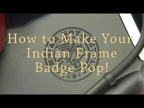 How To Make Your Indian Motorcycle Frame Badge Pop!