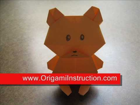 How to make an origami teddy bear youtube