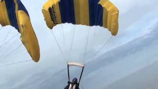 """Ookoonono"" CF 2-Way Sequential Team, Round 1, 2012 World Parachuting Championships"