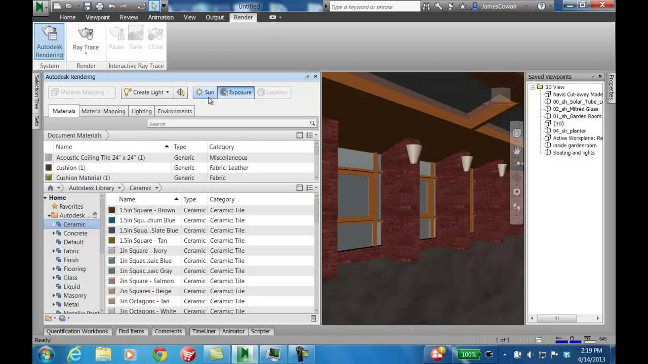Navisworks 2014 Autodesk Rendering YouTube