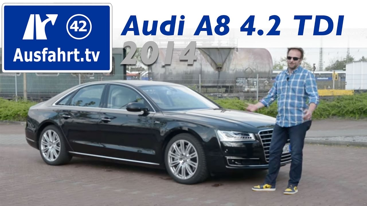 2014 audi a8 4 2 tdi v8 fahrbericht der probefahrt test review youtube. Black Bedroom Furniture Sets. Home Design Ideas