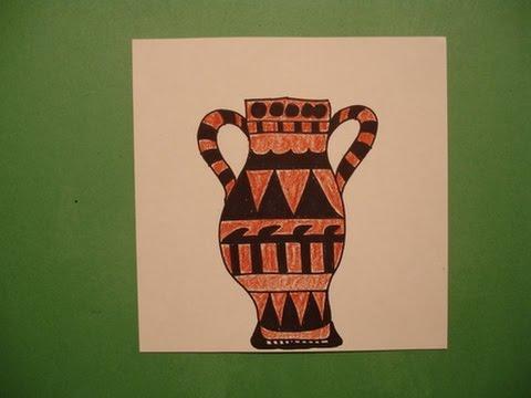 Видео как нарисовать древнегреческие вазы