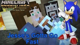 Minecraft: Story Mode - Jesse's Gotta Go Fast (With Sonic X Theme Song)