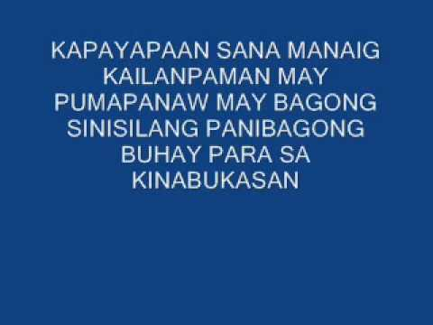 KALEIDOSCOPE WORLD..tagalog version..by rene endencia