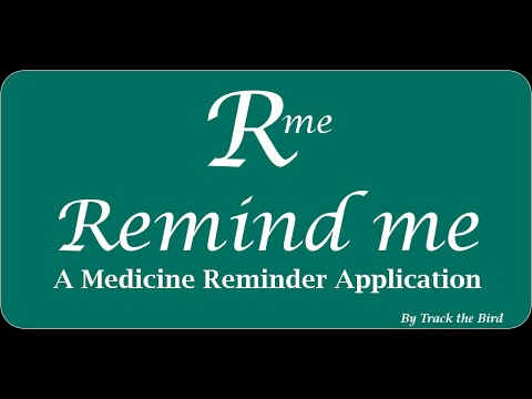 Medicine reminder application screenshot for Android