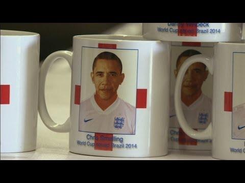 Barack Obama mistaken for England footballer on mug