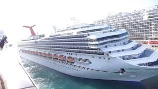 MSC divina, Carnival Conquest, Norwegian NCL Espace, and someone else