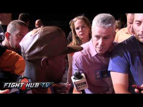 Floyd Mayweather Ortiz hit him  dropped him He didnt KO Broner