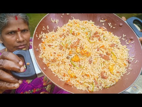 Chicken Fried Rice ::: Tasty Restaurant Style Chicken Fried Rice Recipe in Tamil