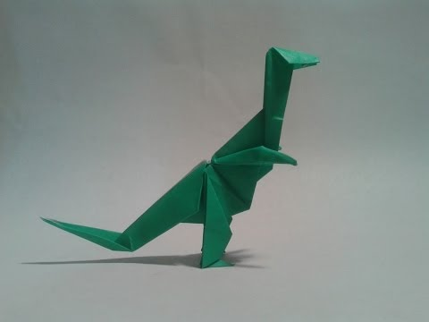 Como hacer un dinosaurio de papel (T-REX)