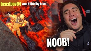 I FOUND ONLINE PLAYERS WORSE THAN ME AT THIS   Hot Lava (FLOOR IS LAVA GAME)