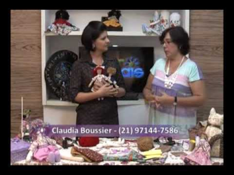 Aprenda a fazer boneca de pano com a artesã Claudia Boissier