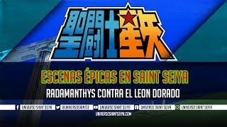 Escenas épicas En Saint Seiya - Radamanthys Contra El Leon Dorado