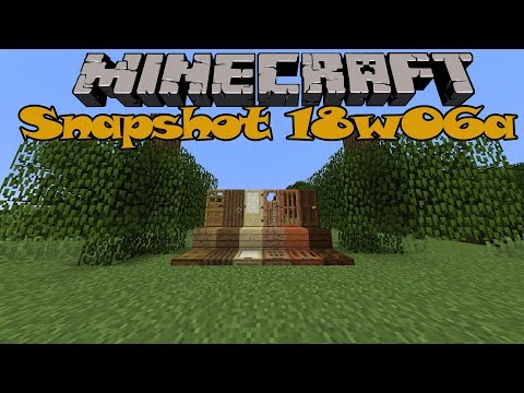 Minecraft 1.13 Snapshot ~ 18w06a ~ Upside Down Trees, New World Generation