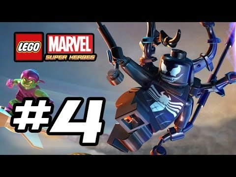 LEGO Marvel Super Heroes Gameplay Walkthrough - Part 4 - VENOM!!! (Lego Gameplay HD)