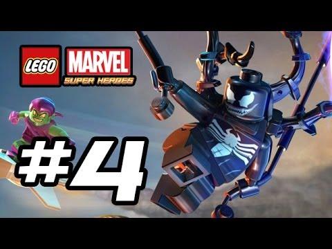 LEGO Marvel Super Heroes Gameplay Walkthrough - Part 4 - VENOM!!! (Lego Gameplay HD)