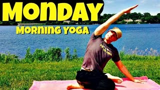 Monday - Morning Sunrise Yoga Routine - 7 Day Yoga Challenge #sunriseyoga
