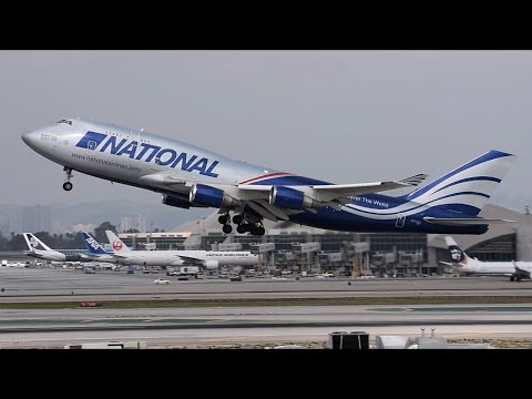 National Air Cargo Boeing 747-400F [N919CA] Departing LAX.