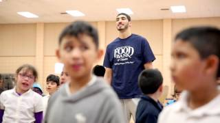 Enes Kanter at the Regional Food Bank of Oklahoma