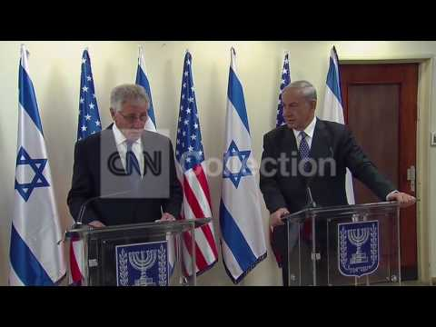 ISRAEL:HAGEL MEETS WITH NETANYAHU AND PERES