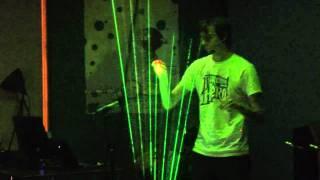 Tetris Theme on Laser Harp - Theremin Hero LIVE! Finale - Gamecity 5 Nottingham