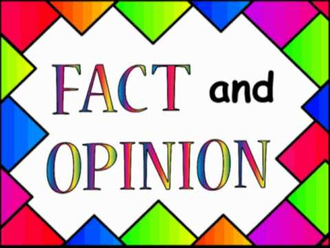 Fact opinion lesson middle school